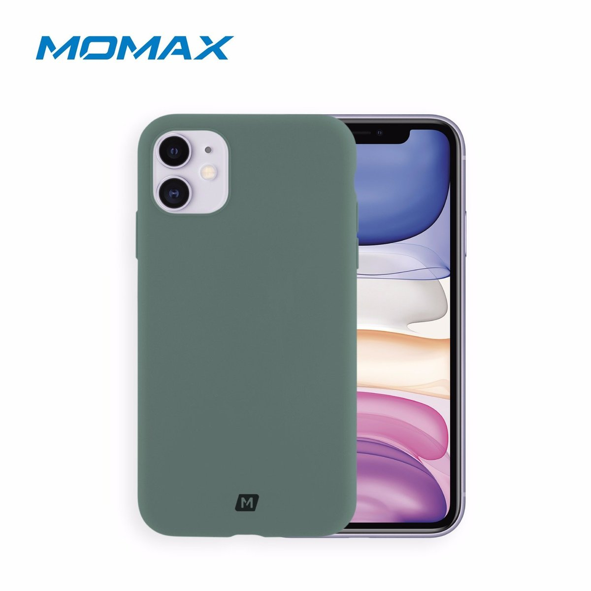 "MOMAX Silicone2.0 iPhone11 6.1"" Case (Green)"